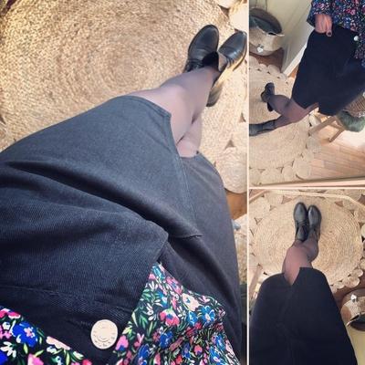Jupe en jean noire Lola