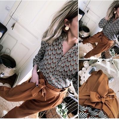 Pantalon Grace Brique