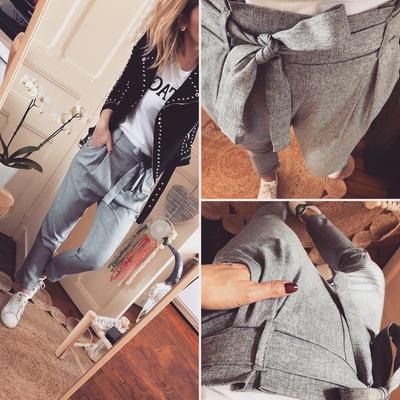 Pantalon Elie gris chiné