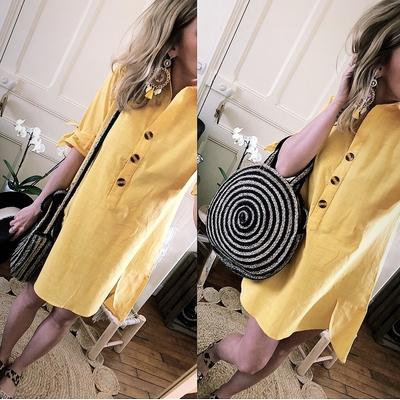 Robe chemise jaune Irisia