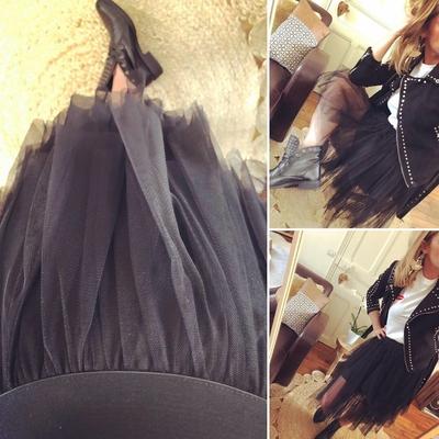 Jupe en tulle noire Candice