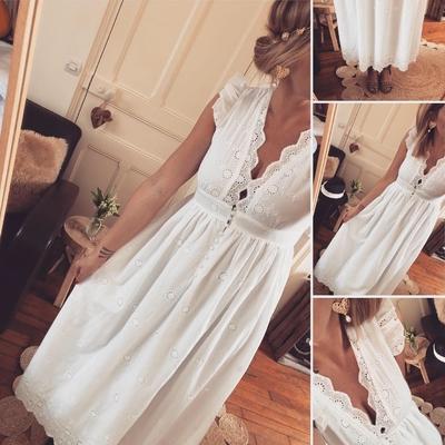 Longue robe Daisy en broderie Anglaise