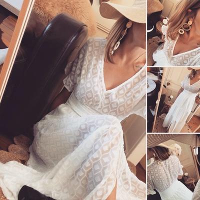 Longue robe blanche Marina