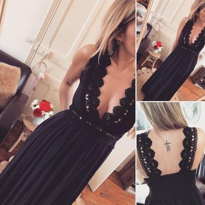 Longue robe noire Tatiana