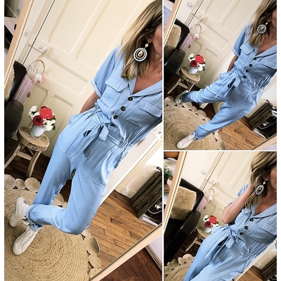 Combinaison Raquel bleu jean