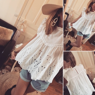 Top Nelle en broderie Anglaise
