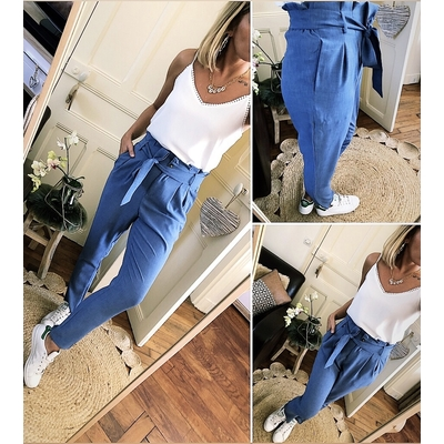 Pantalon bleu Carly
