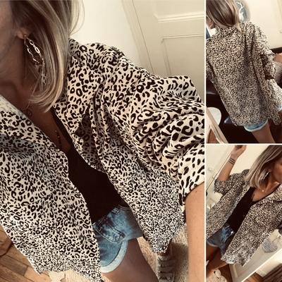 Veste Oversize léopard