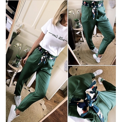 Pantalon Gentiane vert