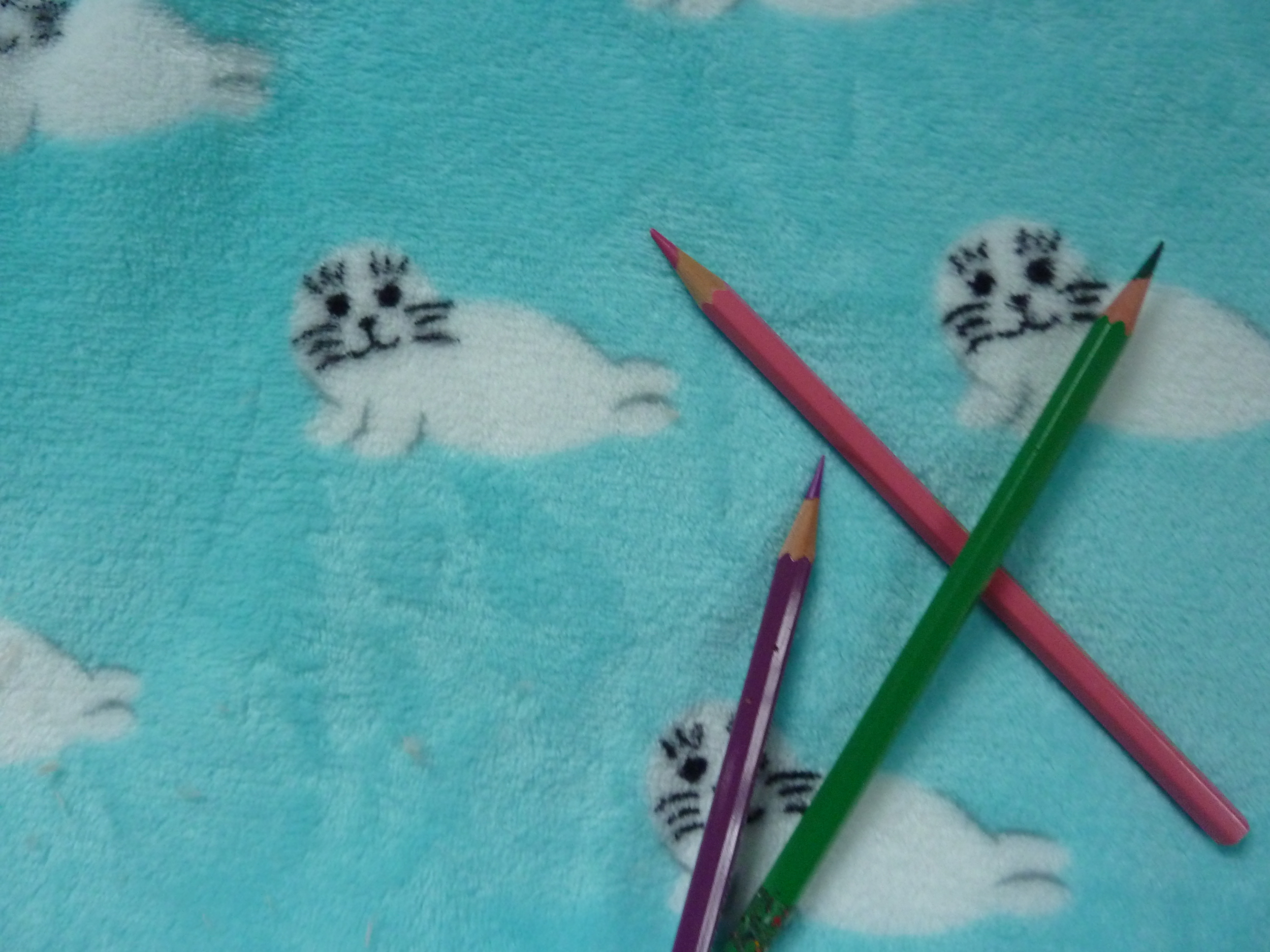 Traversin calin -Tour de lit - Fleece petits phoques