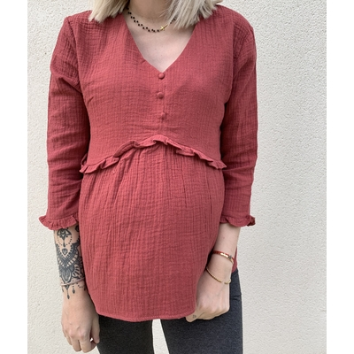Blouse June framboise
