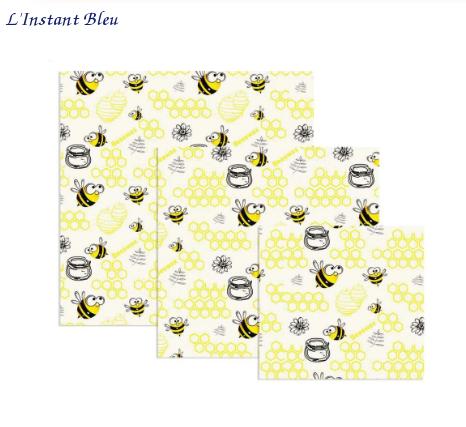 Lot de 3  Films alimentaires «Bee'sWrap» 8 modèles-21