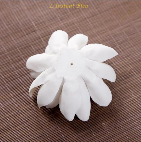 Porte Encens «Kāmāla » Fleur de Lotus en Céramique-4