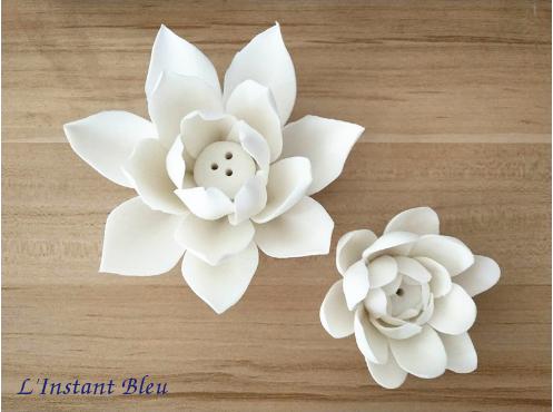 Porte Encens «Kāmāla » Fleur de Lotus en Céramique-5.1