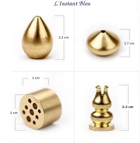 Porte Encens en laiton doré pour Brûleur-4