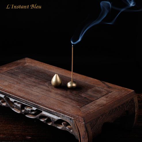 Porte Encens en laiton doré pour Brûleur-16