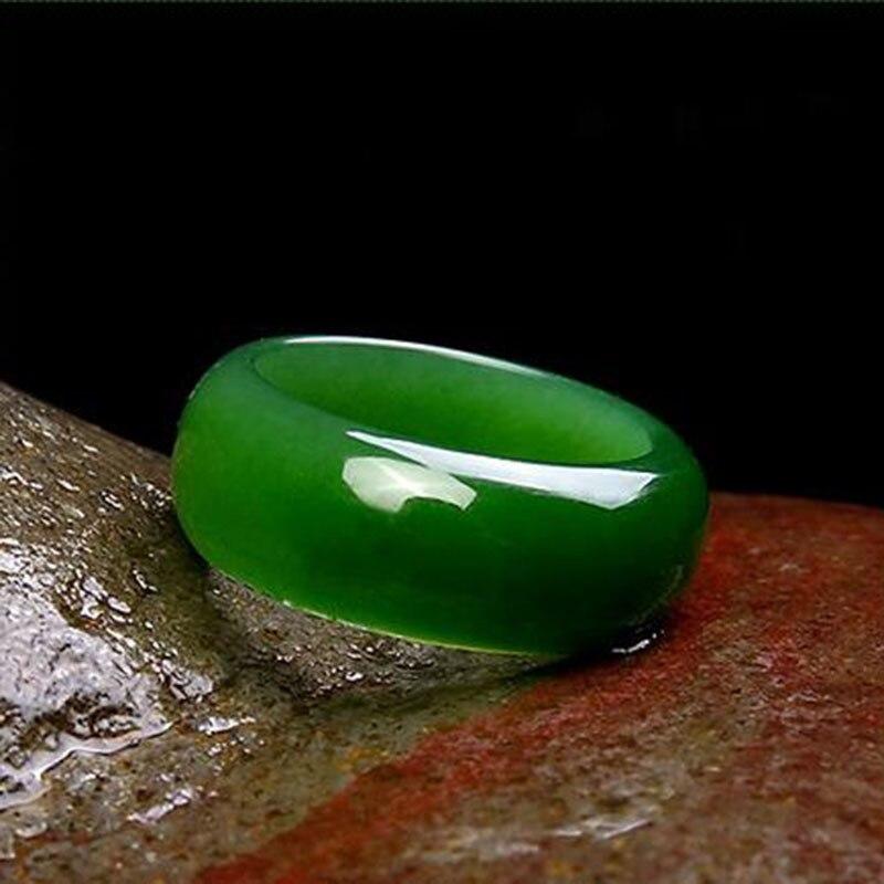 Naturel-vert-Hetian-Jade-anneau-chinois-jad-ite-amulette-mode-charme-bijoux-sculpt-la-main-artisanat