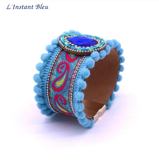 Bracelet Boho «Vishākhā » Esprit lumineux en Cuir végan-6.1