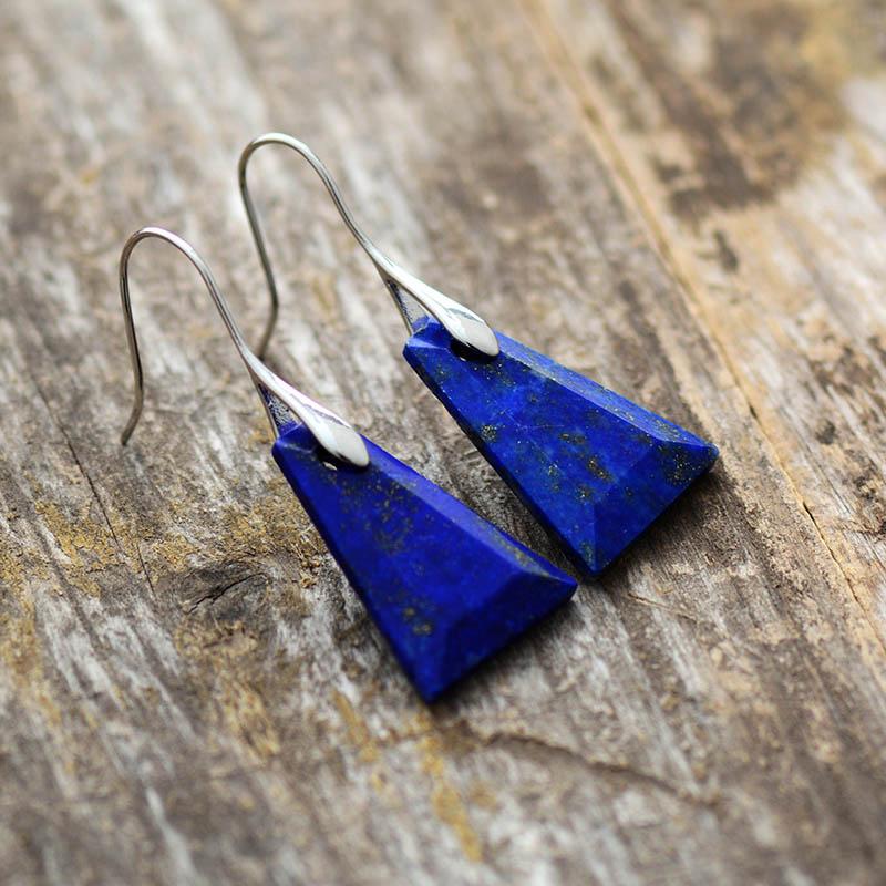 Lapis-Lazuli-boucles-d-oreilles-goutte-pour-les-femmes-Unique-trap-ze-mode-pierre-boucle-d
