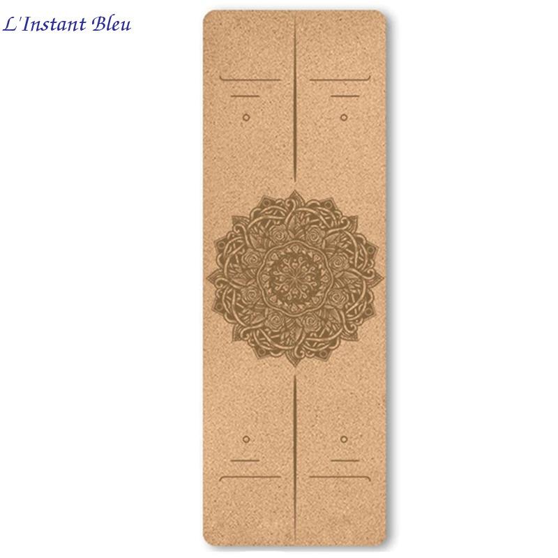 Tapis de Yoga « Namasté» en Liège naturel – 183 x 61 cm – 4 mm d'épaisseur-10.1