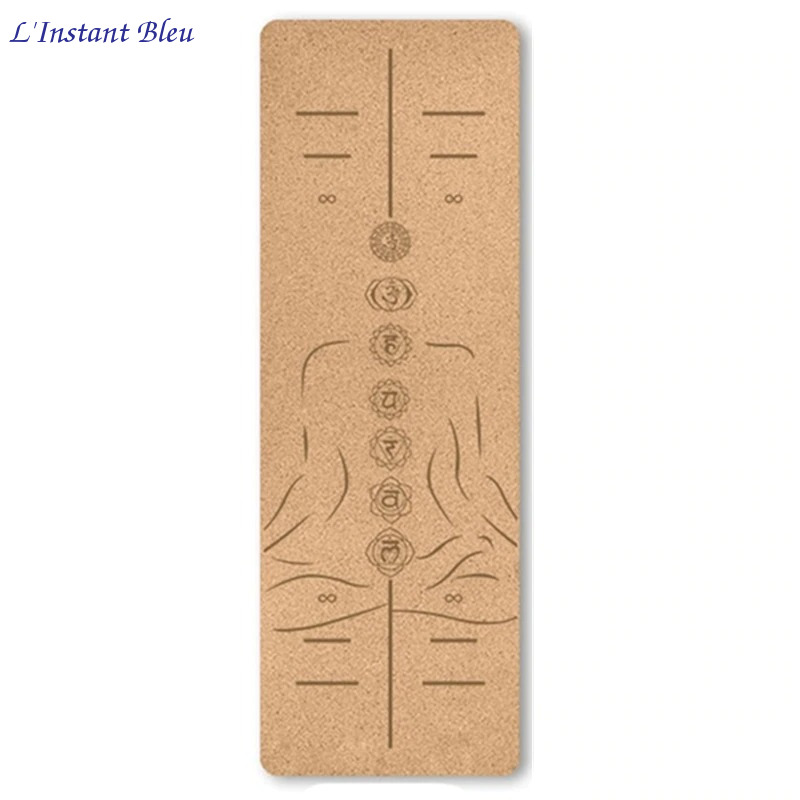 Tapis de Yoga « Namasté» en Liège naturel – 183 x 61 cm – 4 mm d'épaisseur-15.1