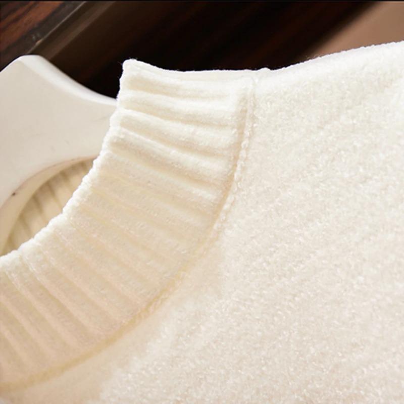 Pull chenille « Manā » Chaleur et Confort-Blanc3