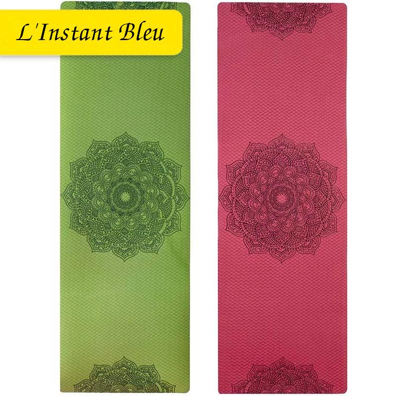 Tapis de Yoga coloré « Saṃsāra » Mandala – 183 x 58 cm –  6 mm d'épaisseur-1
