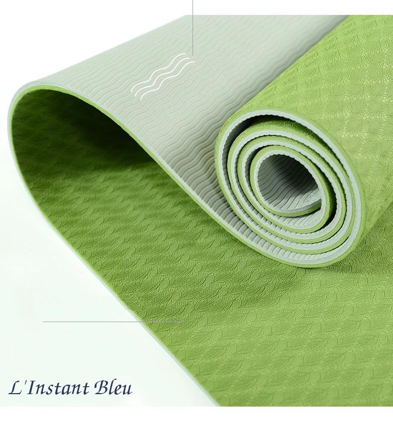 Tapis de Yoga coloré « Saṃsāra » Mandala – 183 x 58 cm –  6 mm d'épaisseur-3