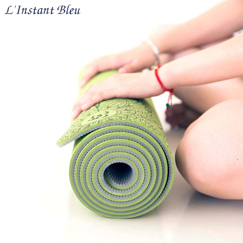 Tapis de Yoga coloré « Saṃsāra » Mandala – 183 x 58 cm –  6 mm d'épaisseur-4.1
