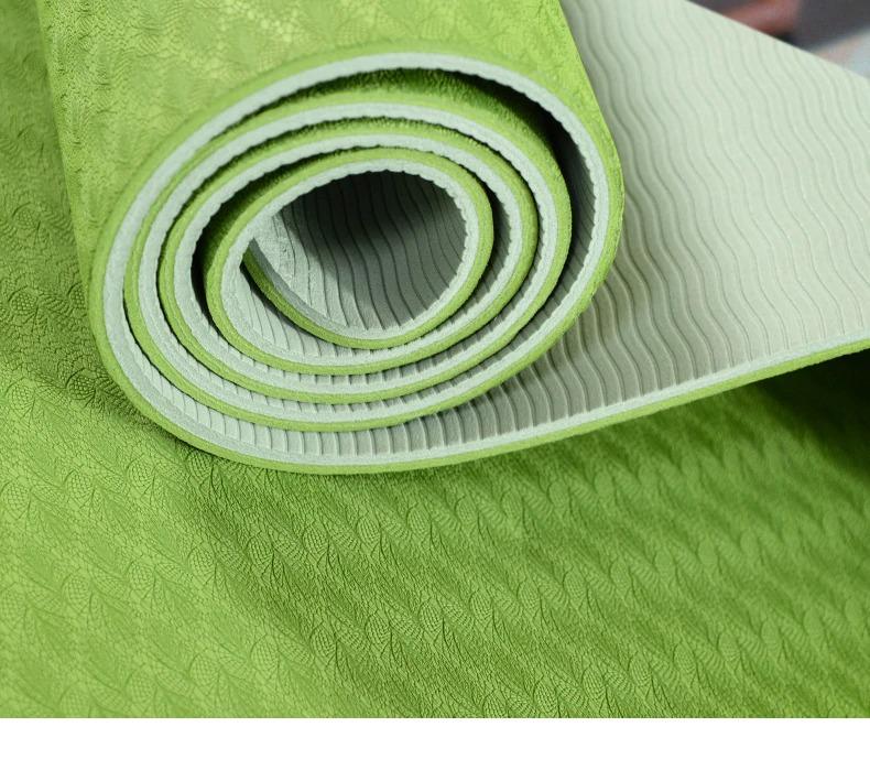 Tapis de Yoga coloré « Saṃsāra » Mandala – 183 x 58 cm –  6 mm d'épaisseur-5