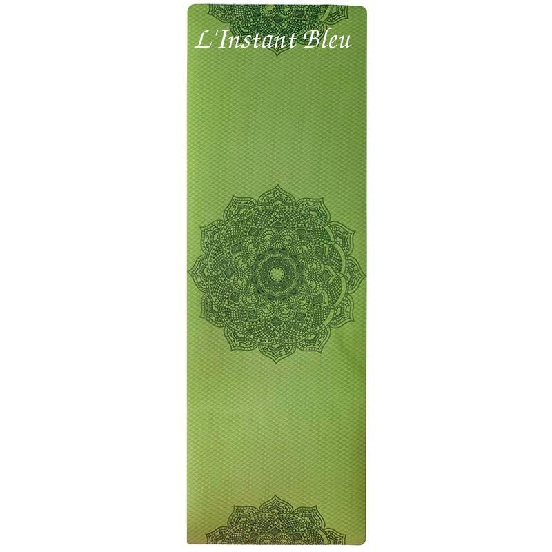 Tapis de Yoga coloré « Saṃsāra » Mandala – 183 x 58 cm –  6 mm d'épaisseur-15.1
