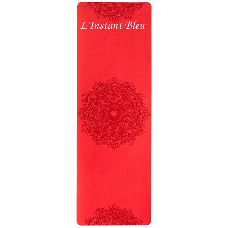 Tapis de Yoga coloré « Saṃsāra » Mandala – 183 x 58 cm –  6 mm d'épaisseur-17.1