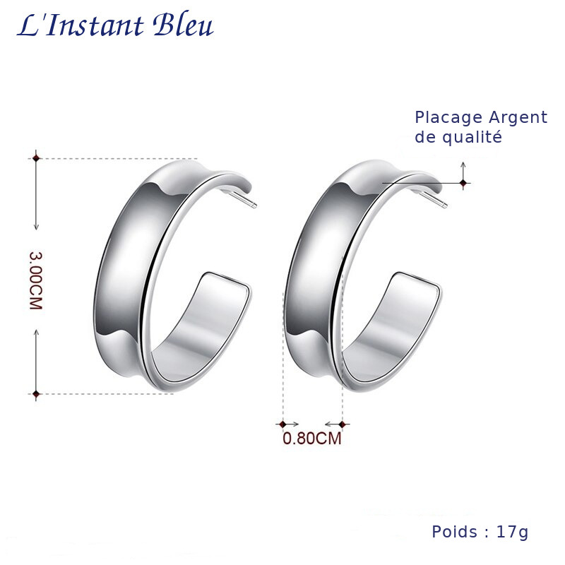 « Sāṅkhya » Boucles d'oreilles Créoles en Argent-10