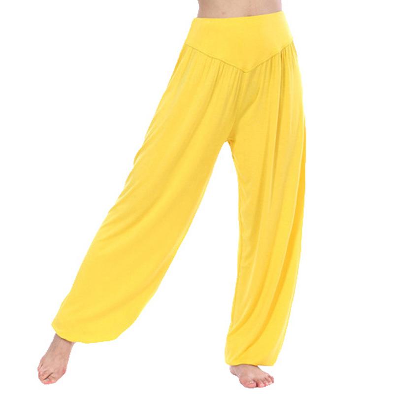 2017-Nouveau-Femmes-De-Yoga-Pantalon-Taille-Haute-Harem-Doux-Modal-Sport-pantalon-L-che-Long