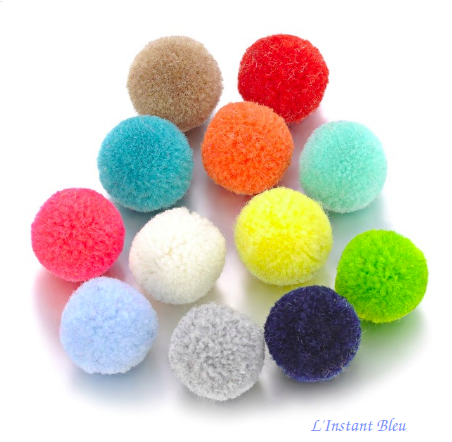20 Balles feutrine pour Pendentif Diffuseur  Aromathérapie