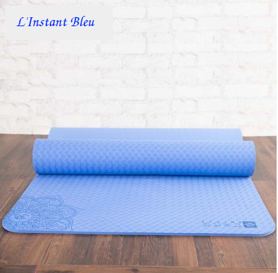 Tapis de Yoga Lotus - Bleu Ciel