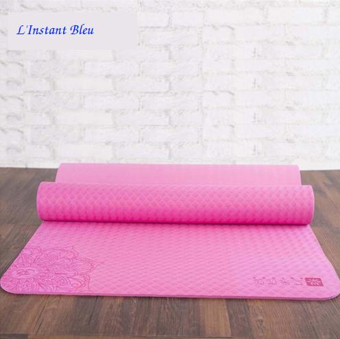Tapis de Yoga Lotus - Rose