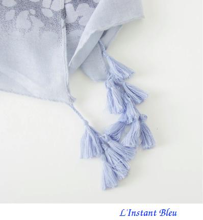 Echarpe imprimée Léopard Bleue en Coton «Dhāraṇā»-7