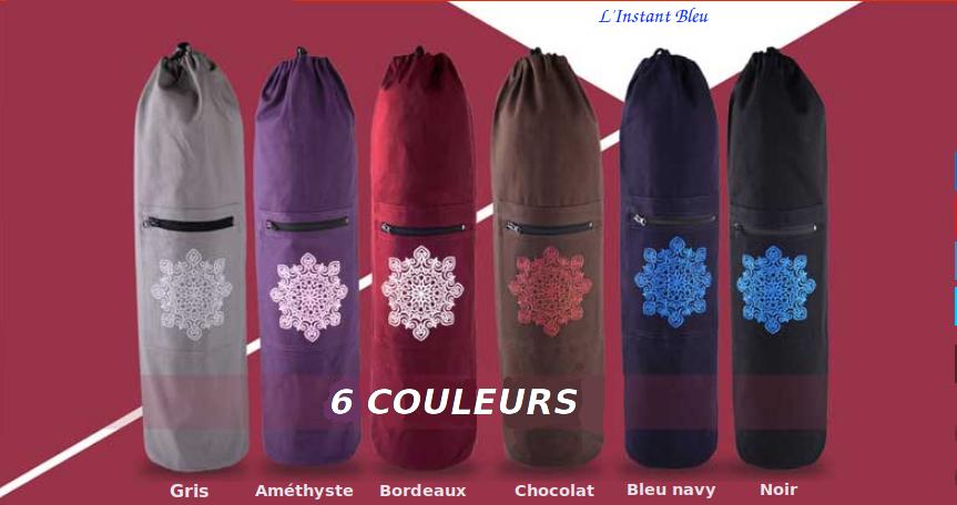 Sac Tapis Toile de couleur-Fleur brodée-6 colors