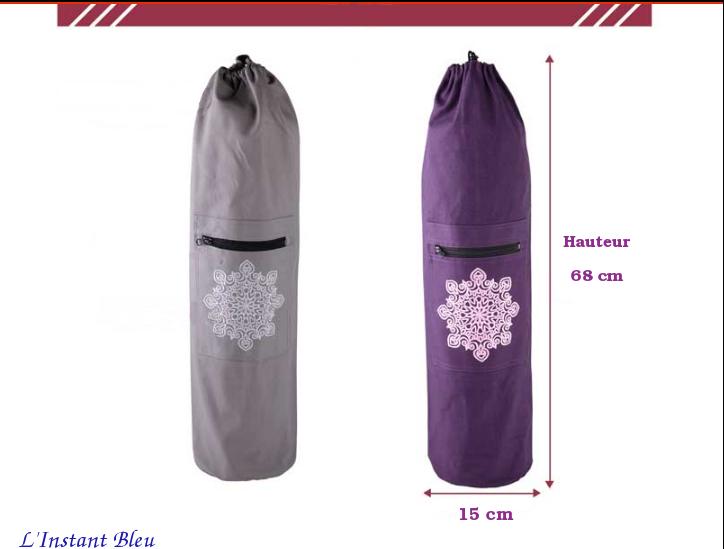 Sac Tapis Toile de couleur-Fleur brodée-size