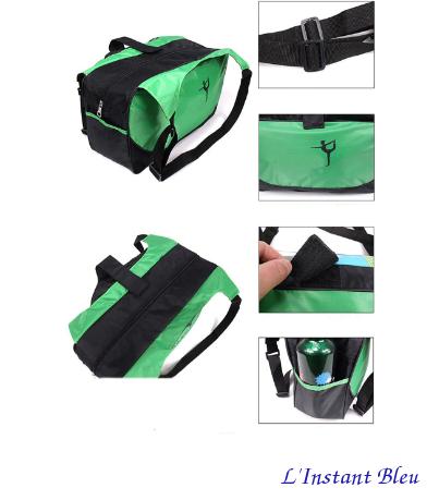 Sac à Tapis de Yoga imperméable de grande capacité «Nandi»- Vert- poches