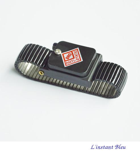 Bracelet pour mise à la Terre «Ganesh» en métal- Noir 1