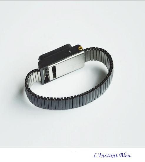 Bracelet pour mise à la Terre «Ganesh» en métal- Noir 3