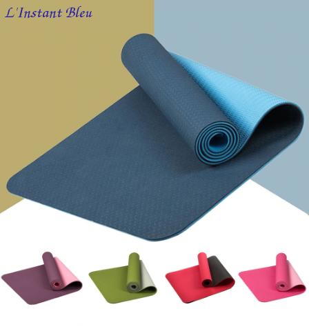 Tapis de Yoga bicolore «Maṇipūra» avec Sac de transport