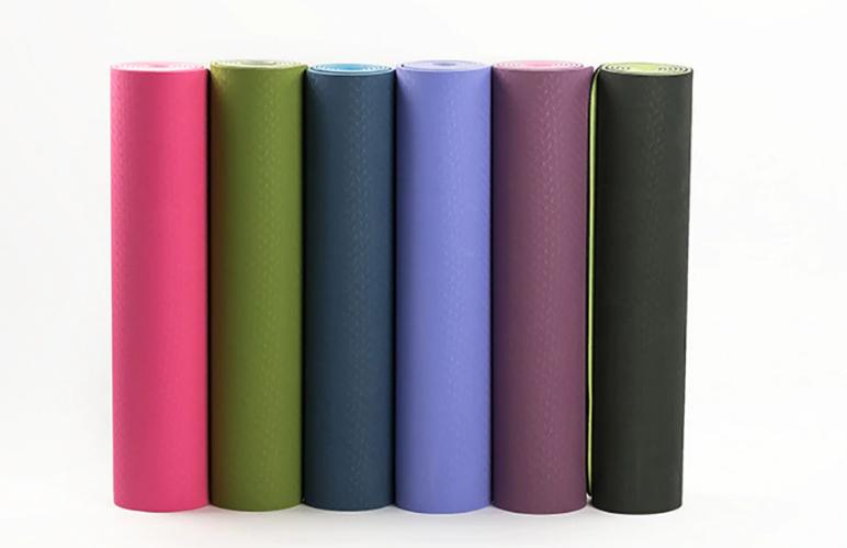 Tapis de Yoga bicolore «Maṇipūra» avec Sac de transport-6 couleurs2