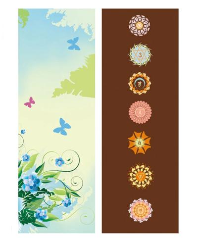 Tapis de Yoga «Bīja» 7 Chakra, Mandala et Nature-3
