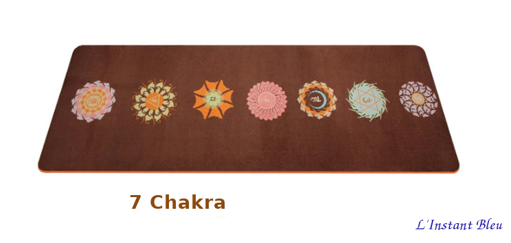 Tapis de Yoga «Bīja» 7 Chakra, Mandala et Nature- 7 chakra-2