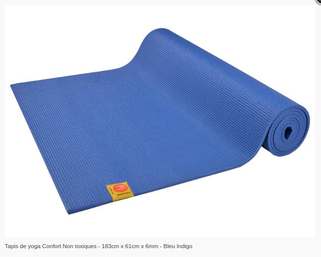 Tapis de yoga Non toxique- 6mm-Chinmudra- Bleu Indigo