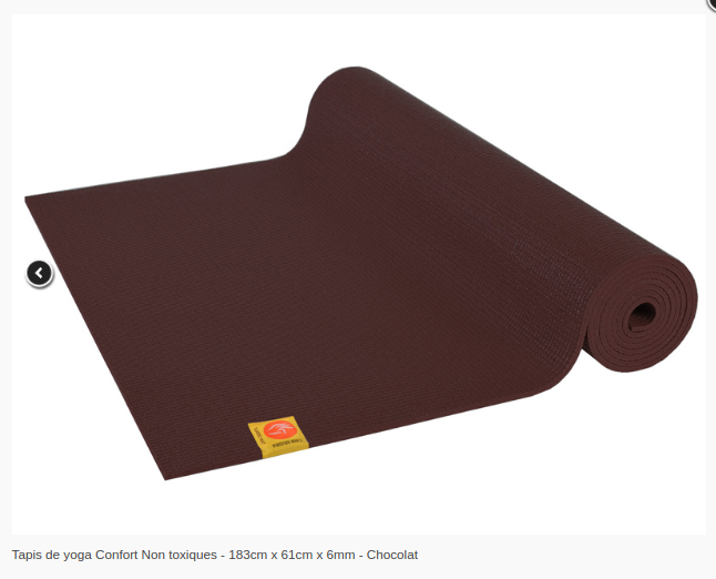 Tapis de yoga Non toxique- 6mm-Chinmudra- Chocolat
