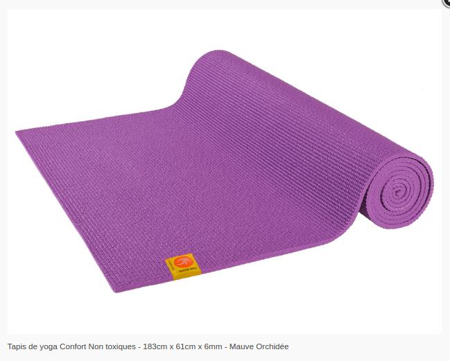 Tapis de yoga Non toxique- 6mm-Chinmudra- Mauve Orchidée